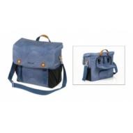 Táska, csomagtartó -,válltáska, kék, esővédelem, 32x36x14cm, 16l