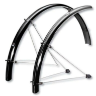 """SKS-Germany ChromoPlastics 28"""" kerékpár sárvédő szett [grafit szürke, 45 mm]"""