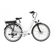 Neuzer E-Trekking Zagon Shengyi teleszkóp fehér/ezüst/kék Női Elektromos Trekking Kerékpár