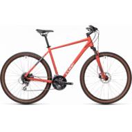 "CUBE NATURE RED´N´GREY 28"" Férfi Cross Trekking Kerékpár 2021"
