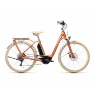 "CUBE ELLA RIDE HYBRID 500 RED´N´GREY 28"" EASY ENTRY Női Elektromos Trekking Kerékpár 2021"