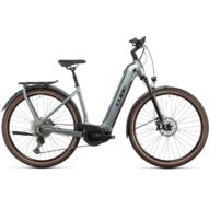 CUBE KATHMANDU HYBRID EXC 750 EASY ENTRY SILVERGREEN´N´BLACK Uniszex Elektromos Trekking Kerékpár 2022