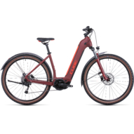 CUBE NURIDE HYBRID PERFORMANCE 625 ALLROAD EASY ENTRY DARKRED´N´RED Uniszex Elektromos Cross Trekking Kerékpár 2022
