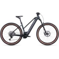 CUBE REACTION HYBRID SLT 750 29 TRAPÉZ PRIZMBLACK´N´BLACK Női Elektromos MTB Kerékpár 2022