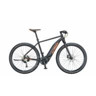 KTM MACINA SPRINT black matt (orange+grey) Férfi Elektromos Cross Trekking Kerékpár 2021