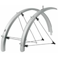 """SKS-Germany Bluemels Trekking 28"""" kerékpár sárvédő szett [ezüst, 53 mm]"""