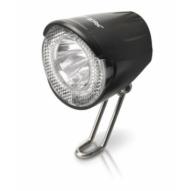 Kerékpár Lámpa agydinamós első, LED, 20 LUX, kapcsolóval