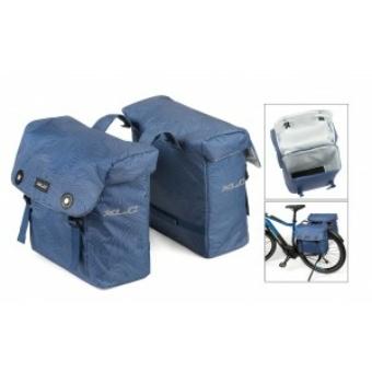 Táska, dupla, Luxus, vízbiztos szigetelés, kék, 32x34x15cm