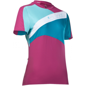 Cube AM SS Womens Jersey Berry/Blue MEZ