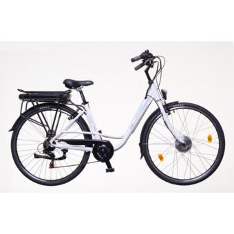 Neuzer E-City Zagon női 18 MXUS fehér/ezüst-kék Elektromos kerékpár