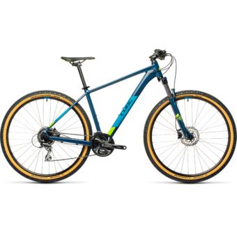 """CUBE AIM RACE BLUEBERRY´N´LIME 27,5"""" Férfi MTB Kerékpár 2021"""