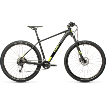 """CUBE AIM EX BLACK´N´FLASHYELLOW 27,5"""" Férfi MTB Kerékpár 2021"""