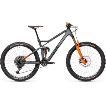 "CUBE STEREO 140 HPC TM FLASHGREY´N´ORANGE 27,5"" 2021"