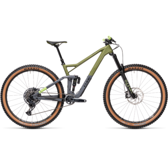 """CUBE STEREO 150 C:62 RACE OLIVE´N´GREY 29"""" 2021"""