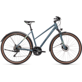 "CUBE NATURE PRO ALLROAD BLUE´N´GREEN 28"" TRAPÉZ 2021"