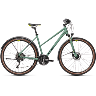 "CUBE NATURE EXC ALLROAD GREEN´N´BLUE 28"" TRAPÉZ 2021"