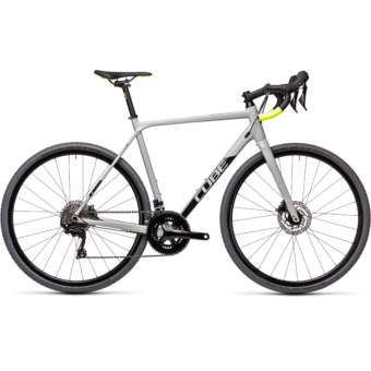 "CUBE CROSS RACE PRO GREY´N´FLASHYELLOW 28"" 2021"