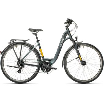 "CUBE TOURING GREY´N´YELLOW 28"" EASY ENTRY Unisex Trekking Kerékpár 2021"
