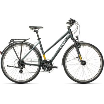 """CUBE TOURING GREY´N´YELLOW 28"""" TRAPÉZ Női Trekking Kerékpár 2021"""