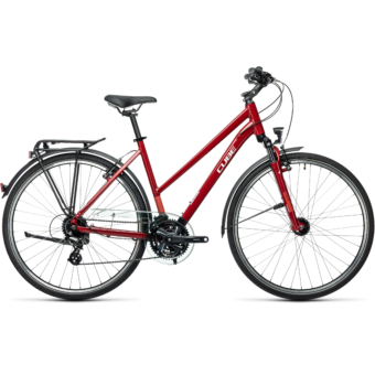 "CUBE TOURING DARKRED´N´GREY 28"" TRAPÉZ Női Trekking Kerékpár 2021"