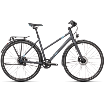"CUBE TRAVEL EXC IRIDIUM´N´BLUE 28"" TRAPÉZ 2021"
