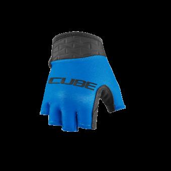 CUBE PERFORMANCE JUNIOR Kerékpáros Kesztyű Rövid Ujjú - Blue / Black