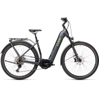 CUBE TOURING HYBRID EXC 625 EASY ENTRY iridium´n´green Unisex Elektromos Trekking Kerékpár 2021
