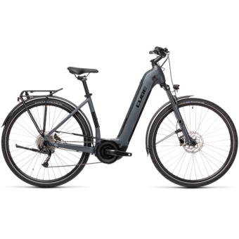 CUBE TOURING HYBRID ONE 400 EASY ENTRY grey´n´black Unisex Elektromos Trekking Kerékpár 2021