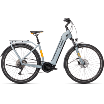 CUBE TOURING HYBRID PRO 625 EASY ENTRY grey´n´orange Unisex Elektromos Trekking Kerékpár 2021