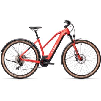 CUBE CROSS HYBRID RACE 625 ALLROAD TRAPÉZ red´n´grey Női Elektromos Cross Trekking Kerékpár 2021