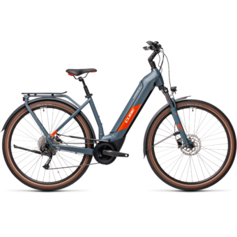 CUBE KATHMANDU HYBRID ONE 500 EASY ENTRY BLUE´N´RED Unisex Elektromos Trekking Kerékpár 2021