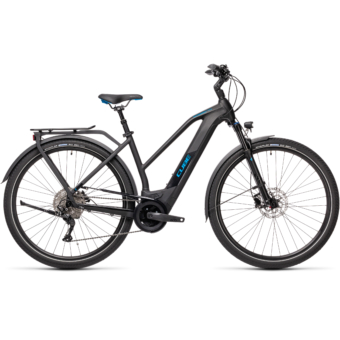 CUBE KATHMANDU HYBRID PRO 625 TRAPÉZ black´n´blue Női Elektromos Trekking Kerékpár 2021
