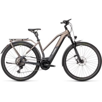 CUBE KATHMANDU HYBRID SLT 625 TRAPÉZ teak´n´iridium Női Elektromos Trekking Kerékpár 2021