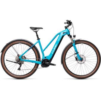 CUBE NATURE HYBRID EXC 500 ALLROAD TRAPÉZ petrol´n´darkblue Női Elektromos Cross Trekking Kerékpár 2021