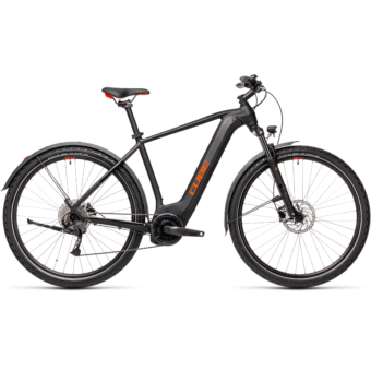 CUBE NATURE HYBRID ONE 625 ALLROAD black´n´red Férfi Elektromos Cross Trekking Kerékpár 2021