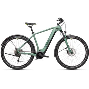 CUBE NATURE HYBRID ONE 500 ALLROAD green´n´sharpgreen Férfi Elektromos Cross Trekking Kerékpár 2021