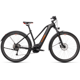 CUBE NATURE HYBRID ONE 500 ALLROAD TRAPÉZ black´n´red Női Elektromos Cross Trekking Kerékpár 2021