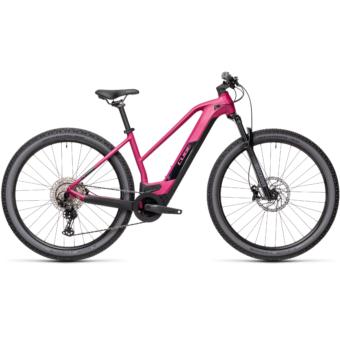 CUBE REACTION HYBRID RACE 625 TRAPÉZ berry´n´black Női Elektromos MTB Kerékpár 2021
