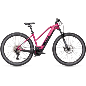 CUBE REACTION HYBRID RACE 625 TRAPÉZ berry´n´black Női Elektromos MTB Kerékpár 2021