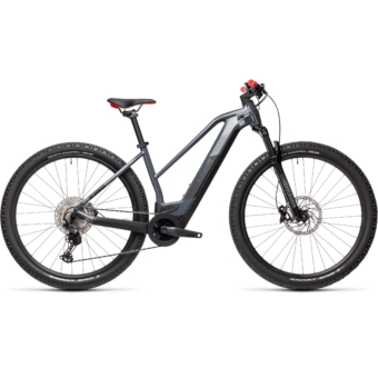 CUBE REACTION HYBRID RACE 625 TRAPÉZ grey´n´red Női Elektromos MTB Kerékpár 2021
