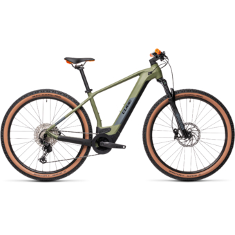 CUBE REACTION HYBRID RACE 625 green´n´orange Férfi Elektromos MTB Kerékpár 2021