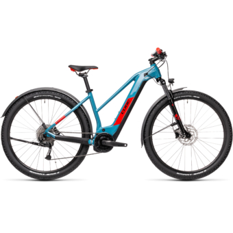 Cube Reaction Hybrid Performance 400 TRAPÉZ ALLROAD blue´n´red Női Elektromos MTB Kerékpár 2021