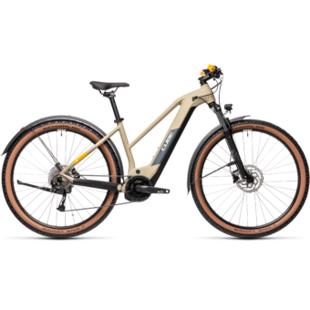 Cube Reaction Hybrid Performance 625 TRAPÉZ ALLROAD desert´n´orange Női Elektromos MTB Kerékpár 2021