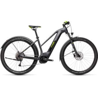 Cube Reaction Hybrid Performance 500 TRAPÉZ ALLROAD iridium´n´green Női Elektromos MTB Kerékpár 2021