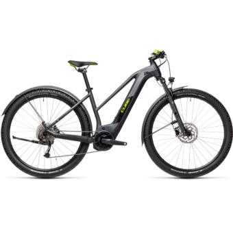Cube Reaction Hybrid Performance 625 TRAPÉZ ALLROAD iridium´n´green Női Elektromos MTB Kerékpár 2021