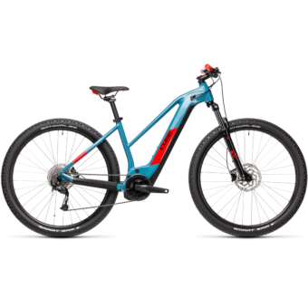 Cube Reaction Hybrid Performance 625 TRAPÉZ blue´n´red Női Elektromos MTB Kerékpár 2021
