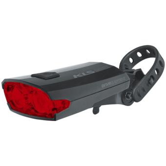 Hátsó tölthető világítás KLS INDEX USB 016 R, fekete