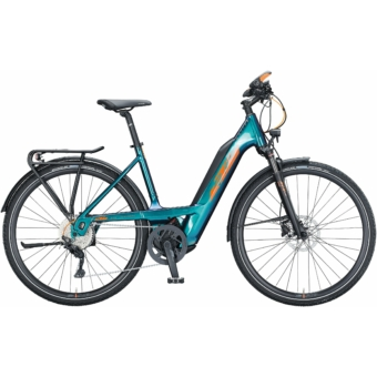 KTM MACINA SPORT 630 EASY ENTRY green purple flip (orange+black) Unisex Elektromos Trekking Kerékpár 2021