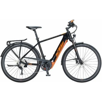 KTM MACINA SPORT 630 metallic black (orange) Férfi Elektromos Trekking Kerékpár 2021