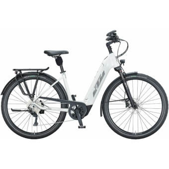 KTM MACINA TOUR CX 610 EASY ENTRY metallic white (grey+golden green) Unisex Elektromos Trekking Kerékpár 2021